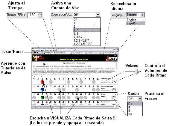 Interface de Salsa Grooves