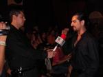 Carlos being interviewed by TV Azteca